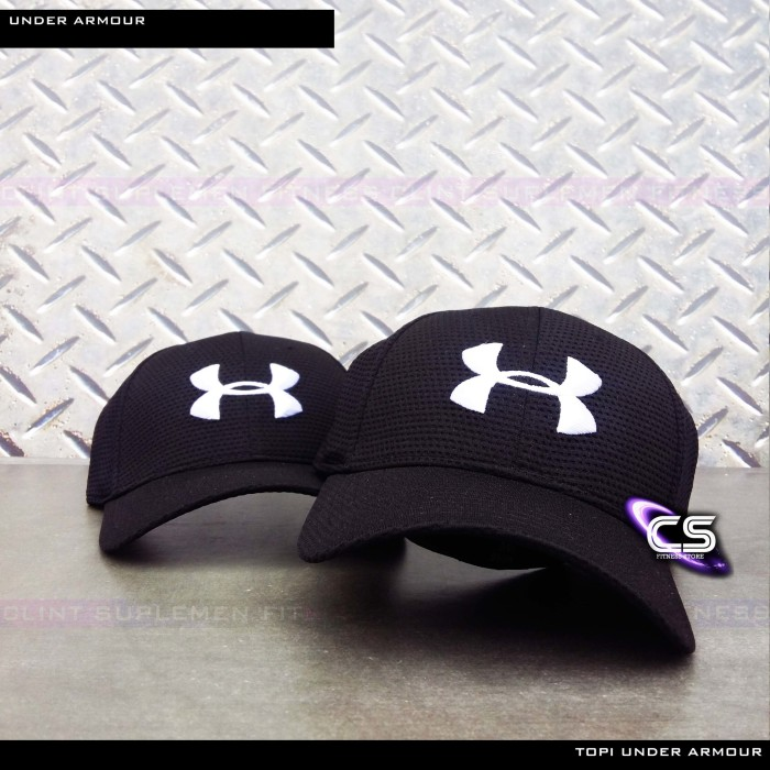 Topi Under Armour ORIGINAL Golf Mesh Stretch Fit Cap imported by Clint