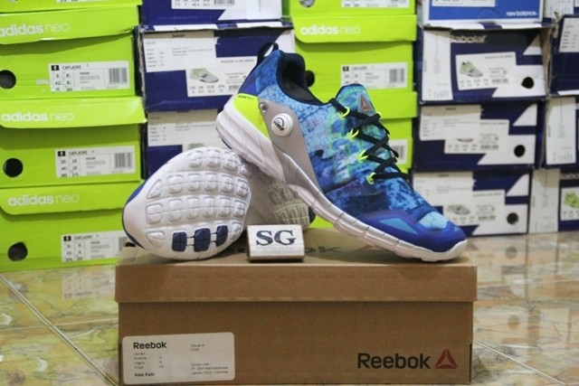 Jual sepatu lari running reebok zpump fusion 2.0 dunes blue original ... 449780df2f