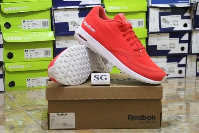 sneakers for cheap 00524 747dd sepatu casual reebok clshx runner sp laser red white original murah