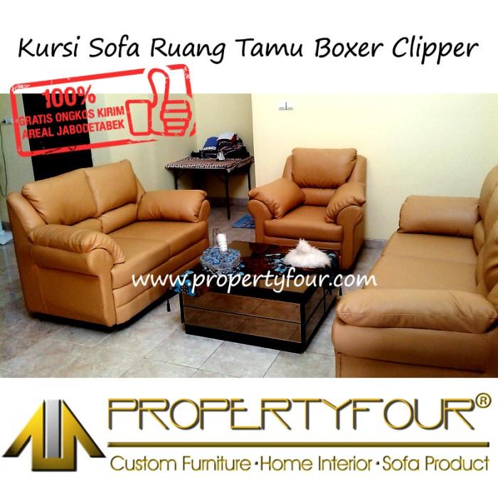 Desain Ruang Tamu Tanpa Kursi  jual sofa kursi ruang tamu boxer clipper set 3 2 1 tanpa meja kota bekasi propertyfour tokopedia