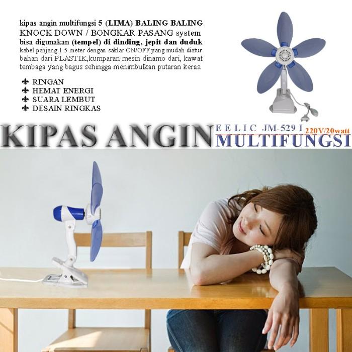 EELIC JM-529 Kipas Angin Mini Multifungsi Lima Baling-Baling