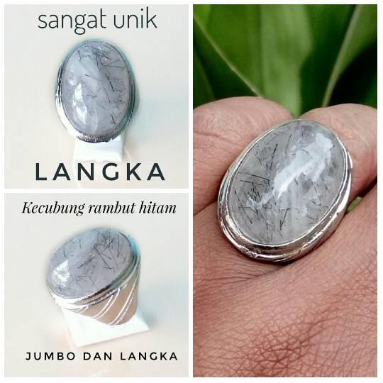 harga Langka !!! batu cincin kecubung rambut hitam / serat cendana hitam Tokopedia.com