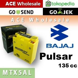 harga Aki kering/ bajaj/ pulsar 135 cc/ mtx5al/ motobatt u: yuasa/ gs ll Tokopedia.com