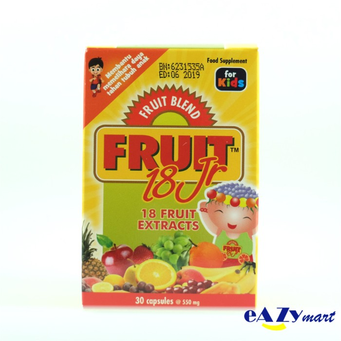 Fruit 18 Jr Isi 30 Kapsul ( Fruit Blend For Kids )