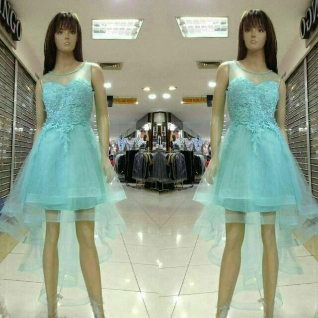 Jual Dress import Gaun pesta pendek ekor Dress pesta premium Baju ... 05ecd179fe