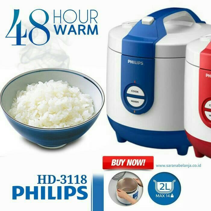 PHILIPS Rice Cooker 3in1 HD 3118/31 - Biru