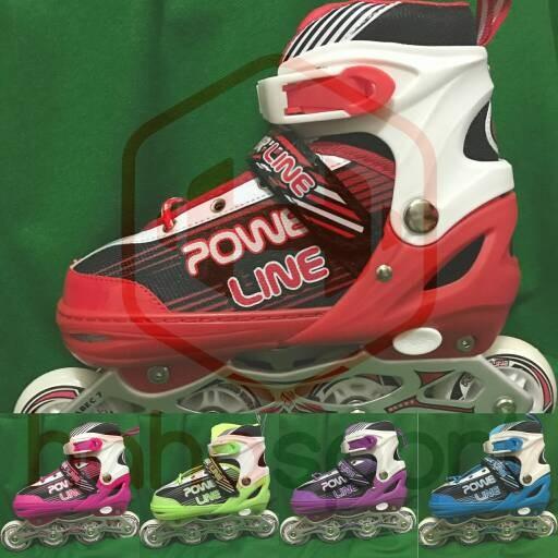 ... harga Sepatu roda anak inline skate power line 5000 pu Tokopedia.com c1019a21bf