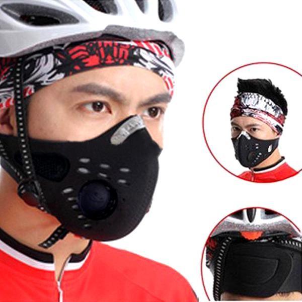 Foto Produk Masker Motor Sepeda Anti Debu Filter Respirator Safety Mask Headloop & dari lbagstore