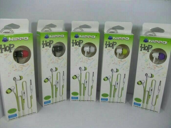 harga Handsfree / headset / earphone hippo hop Tokopedia.com