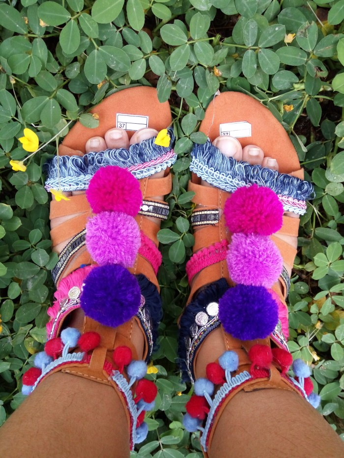 fdc6d91c8740 Jual Pompom gladiator shoes   pompom sandal sendal pompom bohemian ...