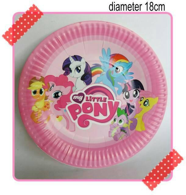 Jual Piring Kertas Kue Ulang Tahun Party Karakter Kuda Poni My Little Pony Kota Bekasi Rean Shoop Tokopedia