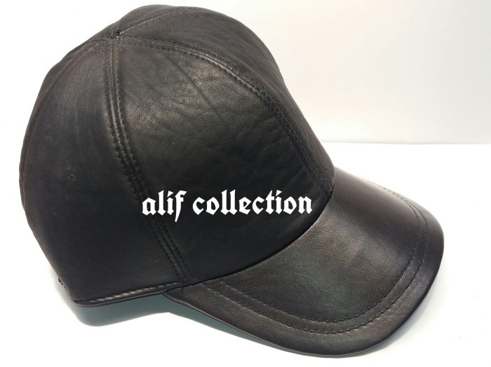 topi kulit asli,topi pria