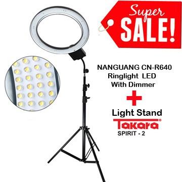 Nanguang cn-r640 led ring light 5600k (with dimmer) + lightstand