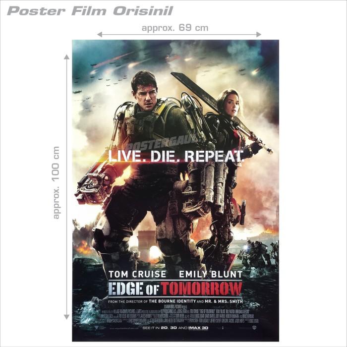 harga Poster edge of tomorrow - original indonesian one sheet 68 x 100 cm Tokopedia.com