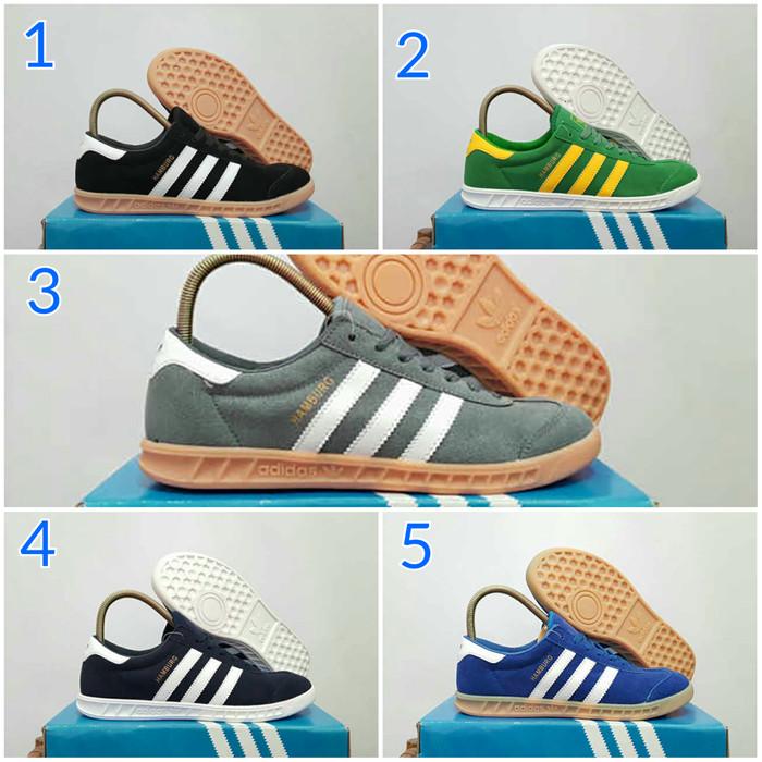 Jual Sepatu Pria Adidas Hamburg Import Varian Warna Casual Sneakers ... a549e1c75d