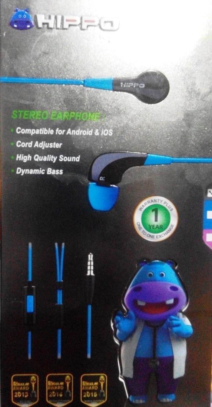 Hippo HF-011 Premium Handsfree Earphone HF011 Bagus Bass Murah