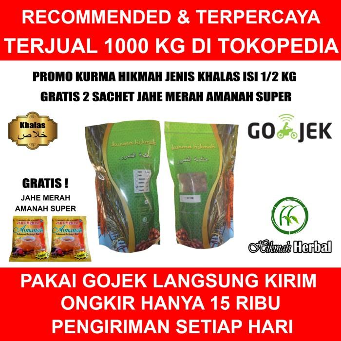 harga Kurma hikmah ( date crown ) khalas isi 500 gram 1 karton isi 14 pack Tokopedia.com