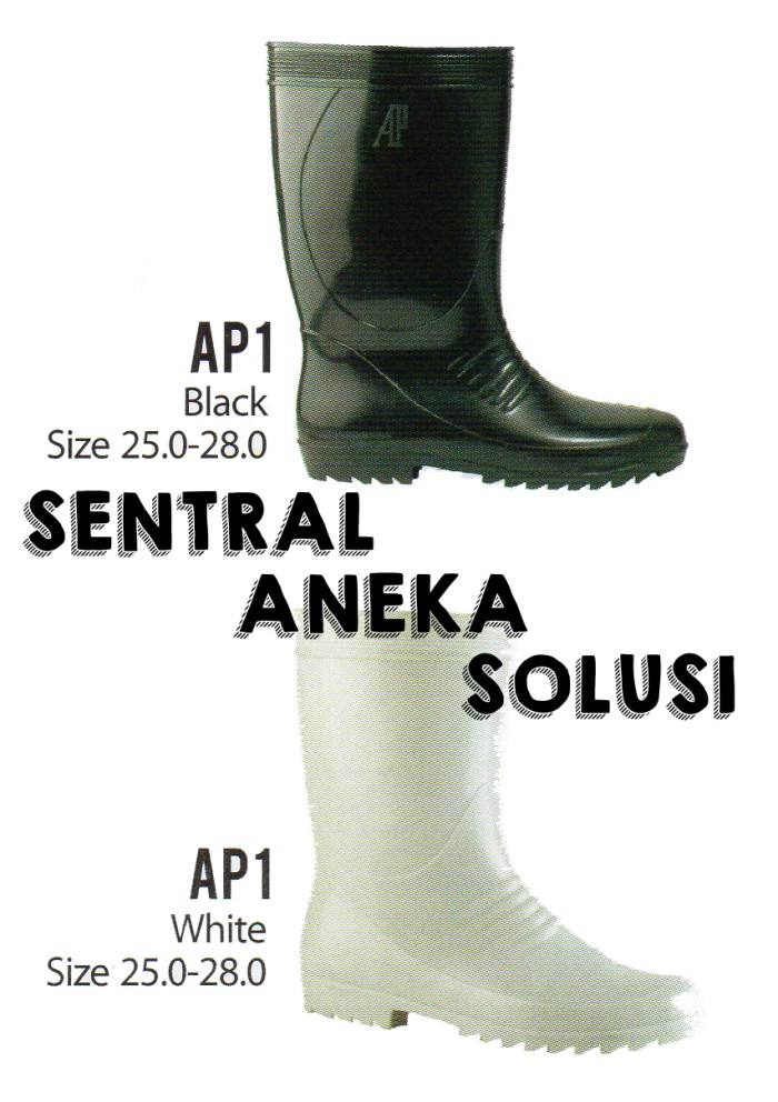 Ap boots i ap 1 black & white series boot sol full hitam black