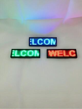 jual name tag led pegawai bisa ganti tulisan di komputer lim