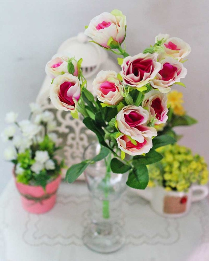 Jual bunga plastik hias hiasan artificial artifisial mawar rose ros ... dd6ef1f067