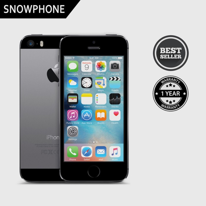 harga Apple iphone 5s 16gb fu gray original garansi distributor Tokopedia.com