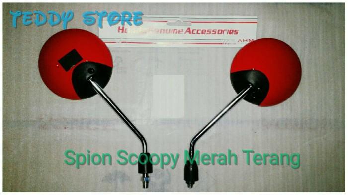 harga Spion set sepasang kiri & kanan honda scoopy fi merah terang ori ahm Tokopedia.com