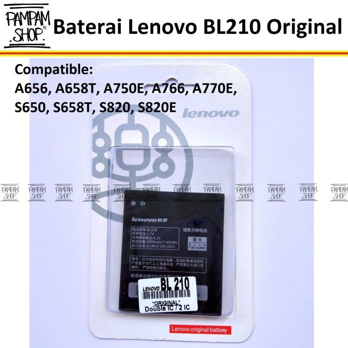 harga Baterai Handphone Lenovo S650 Bl210 Original | Bl 210, Batre, S 650 Hp Tokopedia.com