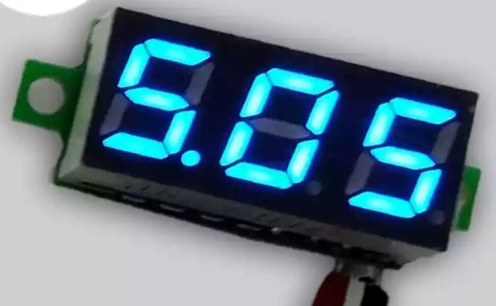 Foto Produk volt meter micro 3 digit 2,5 -30v (biru ,putih) dari versus box mod supply