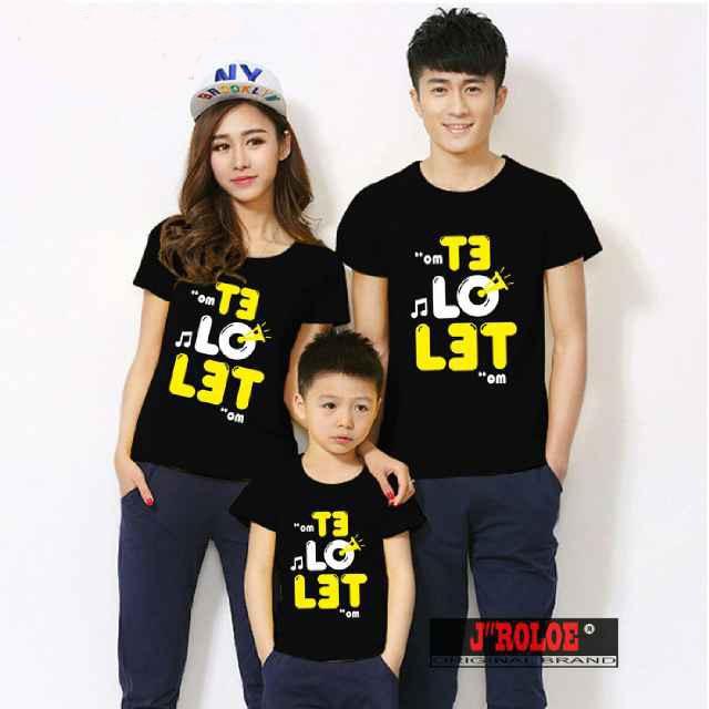 Kaos Family Couple/ Baju Pasangan Keluarga 1 anak Telolet 10548