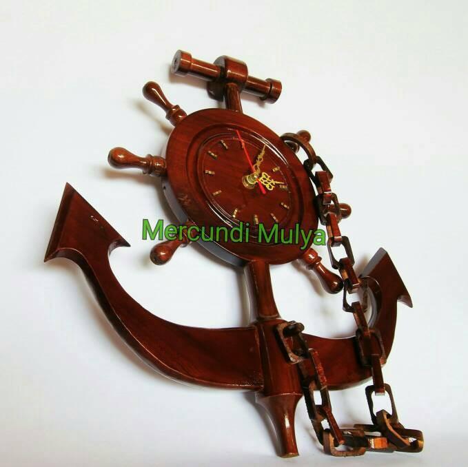 Jual Hiasan Kayu Jam Dinding Klasik Vintage Jangkar Penambat Kapal ... 5f313186af
