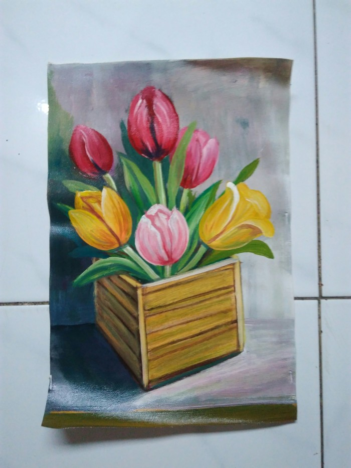 Jual Lukisan Bunga Tulip Kota Bekasi Id Gallery Tokopedia