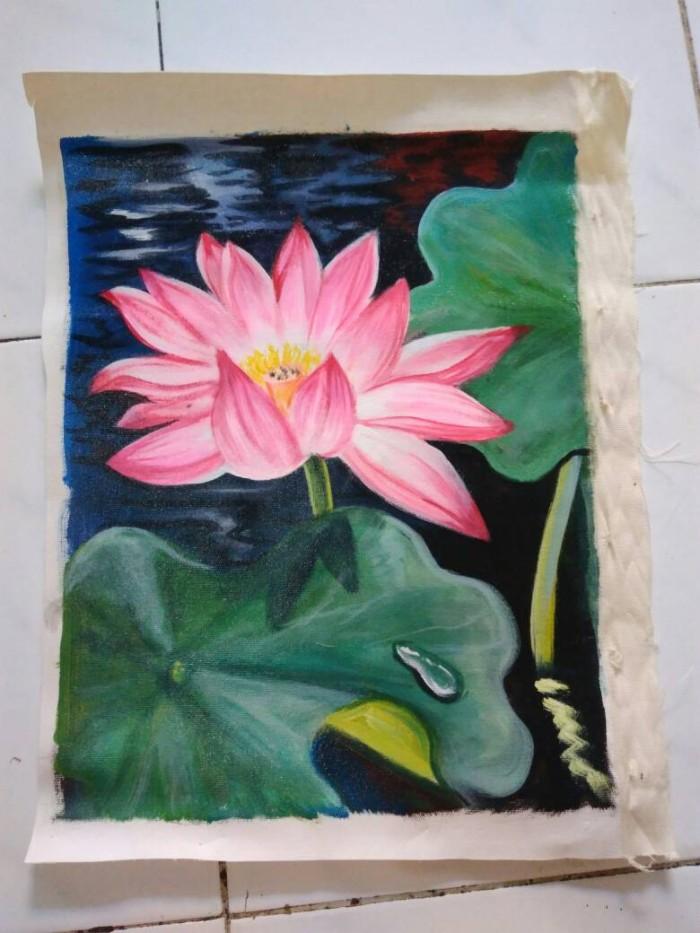 Lukisan Bunga Teratai