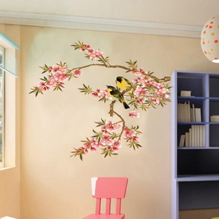 jual (beli 1 gratis 1) wallpaper stiker dinding ranting burung wall