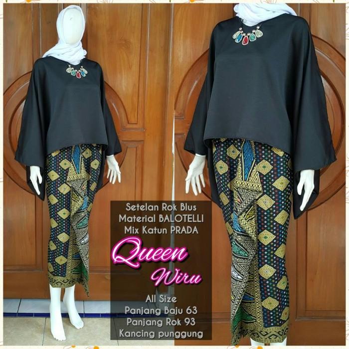 Toko Pedia Baju Batik: Jual SETELAN BAJU KEBAYA QUEEN WIRU / BAJU BATIK MODERN