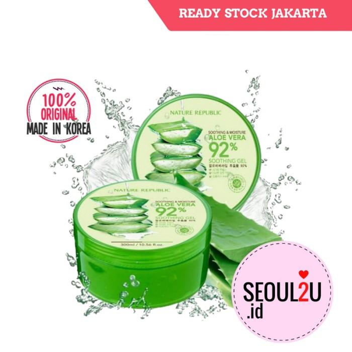 harga [nature republic] soothing & moisture aloe vera 92% soothing gel 300m Tokopedia.com