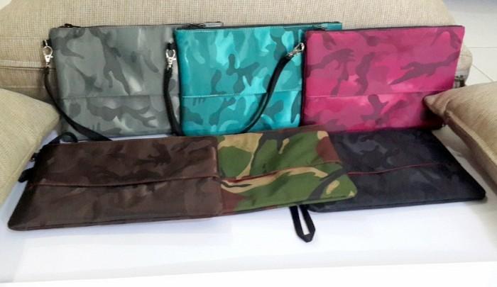Harga Tas Tangan Clutch Hand Bag Wanita Motif Army Look Pink Harga