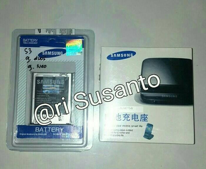 harga Paket baterai + desktop charger samsung galaxy s3 i9300 Tokopedia.com