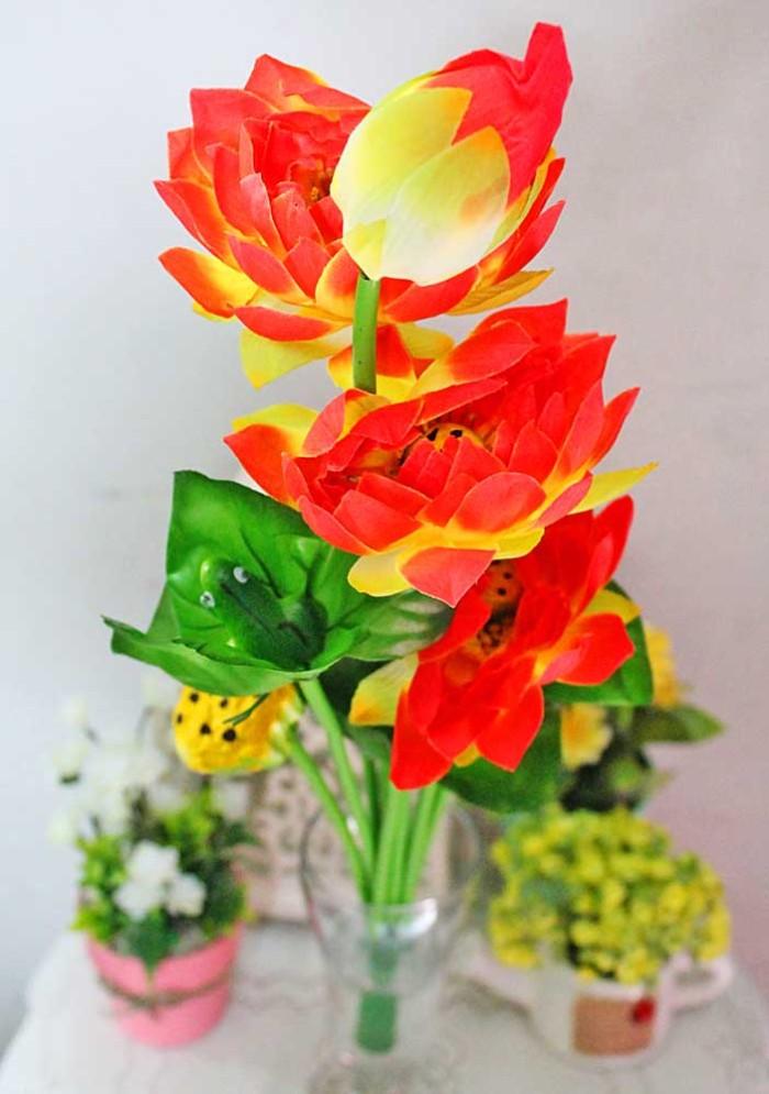 harga Bunga plastik hias hiasan artificial artifisial teratai lotus fower a6 Tokopedia.com