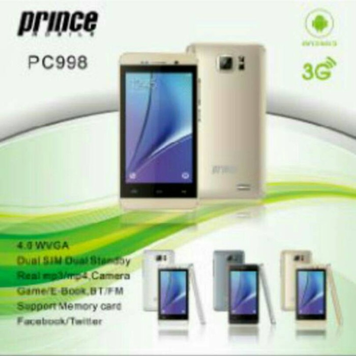 harga Hp prince pc-998 / pc 998 / pc998 android 3g 4  garansi 1 tahun Tokopedia.com