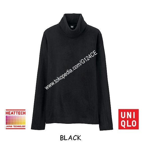 harga Kaos uniqlo heattech fleece turtle neck panjang 172281 hitam black Tokopedia.com