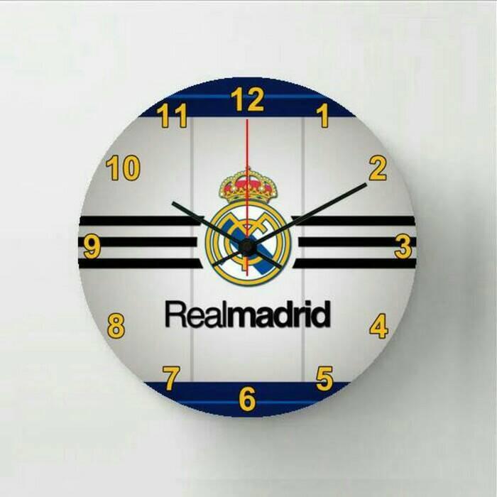 Jual Jam Dinding Real Madrid Dekorasi Kamar Tema Sepakbola Kab Cilacap Mercundi Mulya Tokopedia