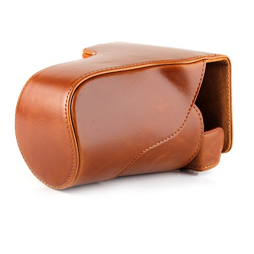 harga Rajawali leather case for canon eos m3 kit 15-45mm/18-55mm - coklat Tokopedia.com