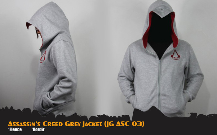 Jual Assassin S Creed Jaket Anime Game Grey Jacket Hoodie Jg