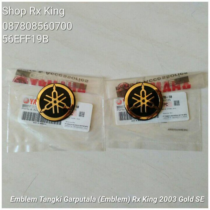 harga Emblem tangki garputala (emblem 20th) rx king 2003 gold se ori new Tokopedia.com
