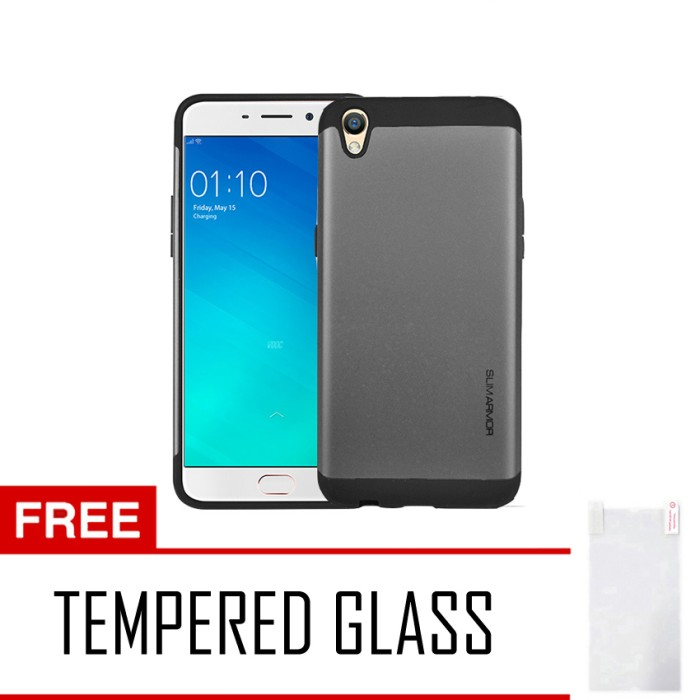 Case/Casing Slim Armor Best Quality For Oppo F1 Plus/R9+Tempered Glass