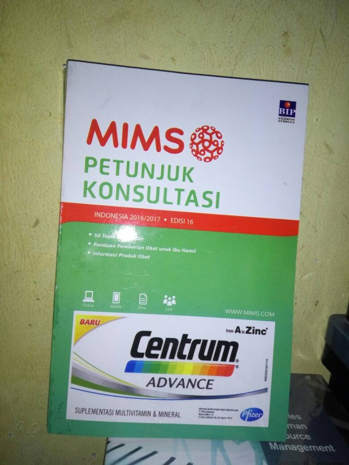 harga Mims indonesia 2016 - 2017 edisi 16 Tokopedia.com