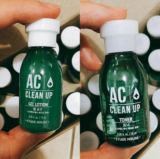 Etude House AC Clean Up Toner And Gel Lotion