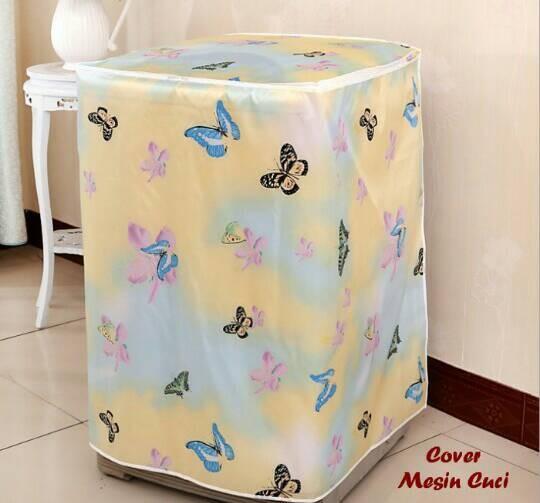 harga Cover mesin cuci kupu-kupu bahan satin tebal buka atas buka depan Tokopedia.com