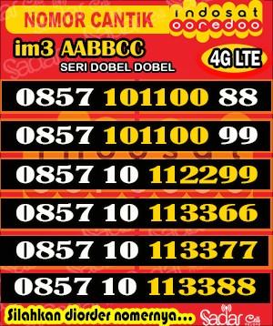 Nomor Cantik Indosat Murah Seri AABBCC 66 77 88 99 00 11