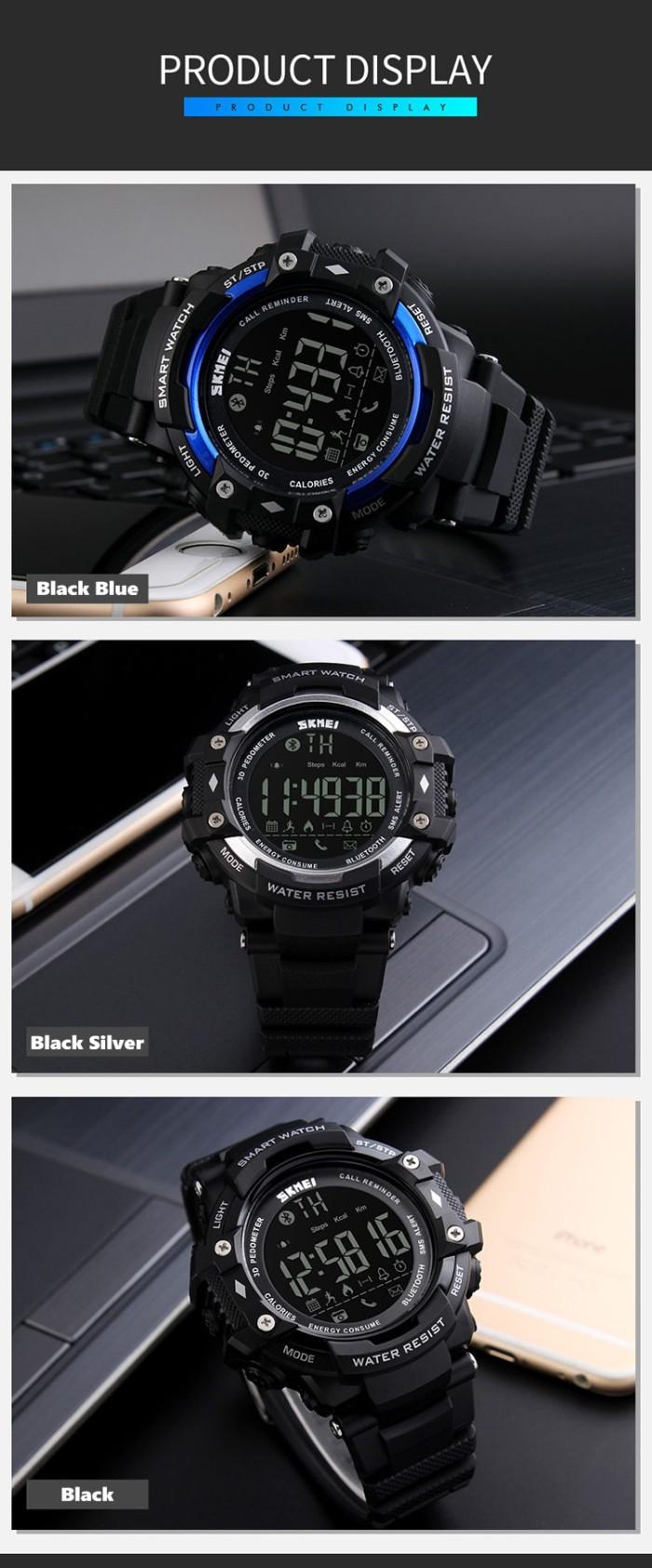 ... SKMEI Bluetooth Jam Tangan Olahraga Smartwatch 1226 DG1226 BL